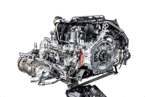 Output is 148 hp per liter with direct fuel injection and twin turbocharging. That's 443 hp and 390 lb ft.