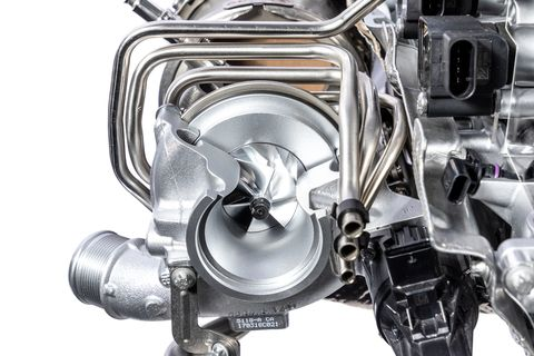 The turbochargers have electrically controlled wastegates