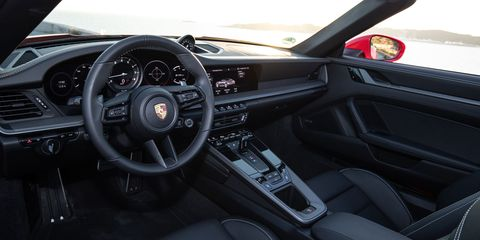 The 2020 Porsche 911 Carrera Cabriolet is a little heavier than the coupe (3,541 to 3,382 lbs.).
