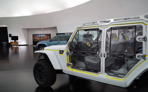 This see-through Wrangler would be perfect for a rainy day at the trails.