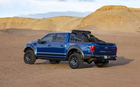 Shelby American installs a new two stage shock system, bigger wheels and tires, upgraded interior and exterior elements.