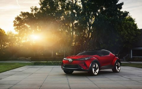 The C-HR concept is full of sharp body lines that are contrasted but round contours. It could be considered busy by some standards, but most would at least concede it is polarizing.