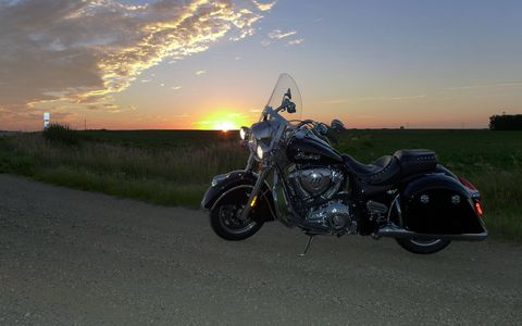 Taking in a South Dakota sunset after a long day on the Indian Springfield