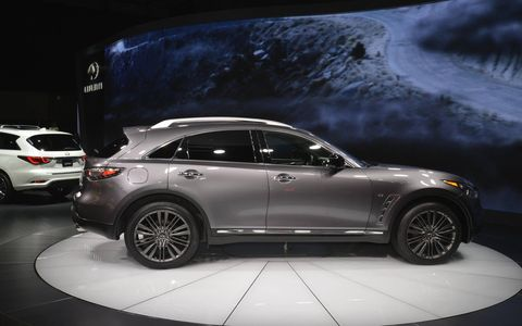2017 Infiniti QX70 Limited at the New York auto show