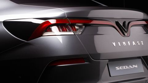 The second of two concepts from the Vietnamese car company VinFast is a stylish sedan designed by Pininfarina.