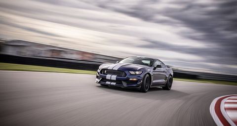 The 2019 Ford Mustang Shelby GT350 comes with the same 5.2-liter flat-plane-crank V8 making 526 hp as the current version, but with new MagneRide, traction control, electronic power steering and ABS tuning.