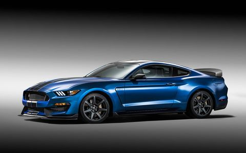 The Shelby GT350R was unveiled at the Detroit auto show on Monday.