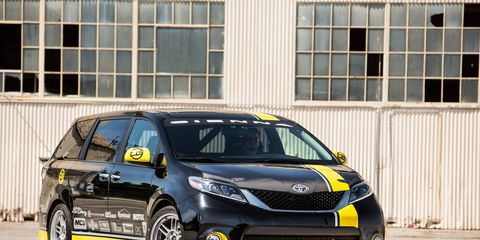 Toyota will take its R-tuned Sienna SE on One Lap of America.