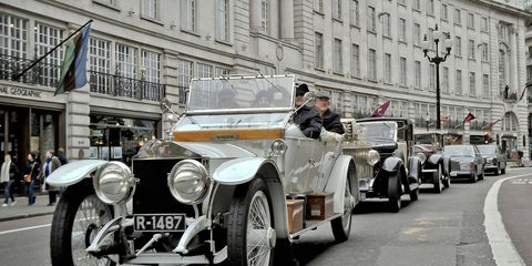 A Rolls-Royce Silver Ghost on a more recent tour.