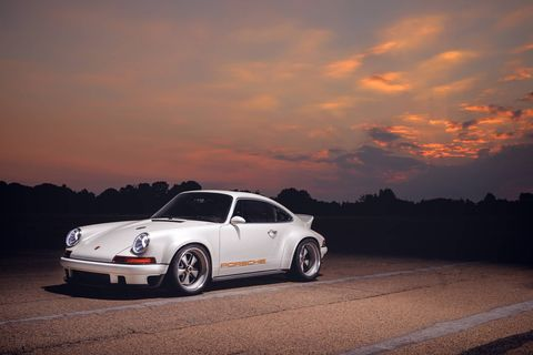 Singer lightweighted and upgraded a customer's 1990 Porsche 911 964 for the Goodwood Festival of Speed.
