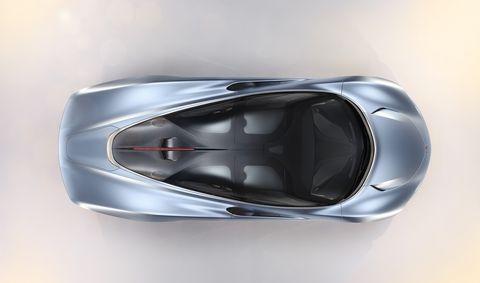 The McLaren Speetail, a new 1,035-hp hybrid hypercar from McLaren.