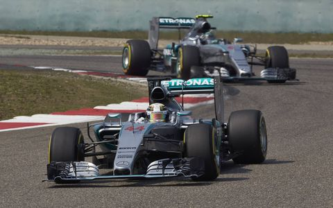 Action from Sunday's Formula One Chinese Grand Prix in Shanghai