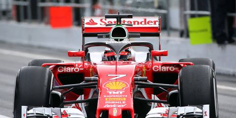 Ferrari unveiled its prototype protective halo on Thursday in Barcelona.