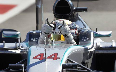 Lewis Hamilton, Sebastian Vettel and Felipe Massa finished 1-2-3 at the Formula One Italian Grand Prix on Sunday.