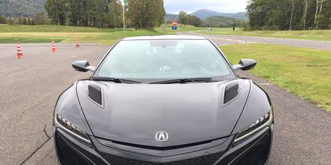 The 2019 Acura NSX looks as it drives, sharper. Details come in the body color upper grille and gloss painted mesh and carbon parts