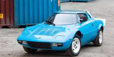 This 1975 Lancia Stratos will be one of several rally legends rolling across the block at the Quail Lodge.