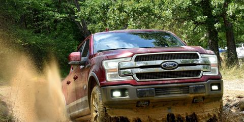 The 2018 Ford F-150 XLT Supercrew has a 2.7-liter twin-turbocharged V6 with 325 hp and 400 lb-ft of torque.