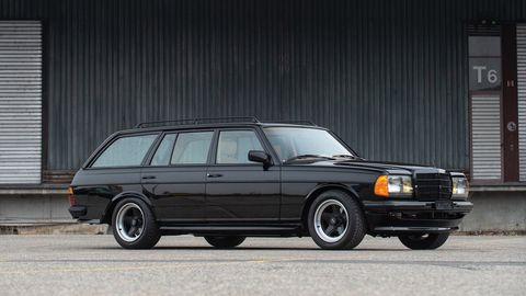 An AMG wagon from a few generations ago will be offered at auction in a few days.