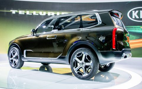 The Kia Telluride concept made its debut at the Detroit auto show in 2016, showing what a three-row luxury SUV from the automaker could look like.