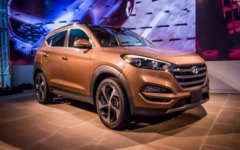 The 2016 Hyundai Tucson made its debut at the New York auto show.