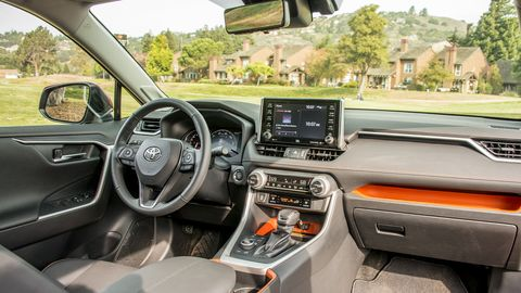 The RAV4 is all new inside and out for 2019, adopting a more rugged interior design in Adventure guise.