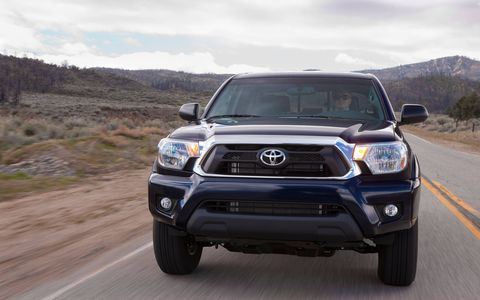 The 2014 Toyota Tacoma Double Cab comes in at a base price of $28,745 with our tester topping off at $36,229.