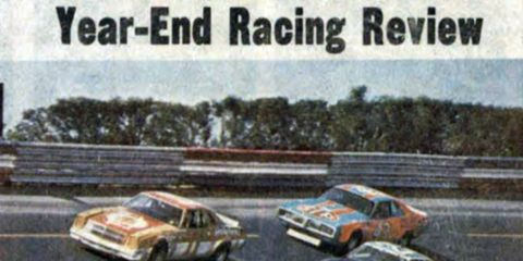 Cale Yarborough, out front in the number 11 car, clinched his first NASCAR Grand National title in 1976.