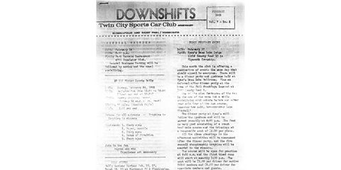Back when racing organizations used ditto-machines and the US Postal Service to get the word out to racers.