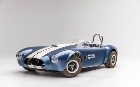Among the kid's cars at the Petersen exhibit is this kid's Cobra, pretty lifelike in its scale and proportion. Whoever drove this down the sidewalk back in the day was the envy of the neighborhood.