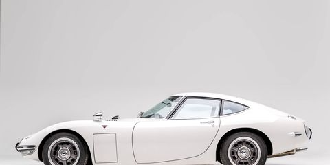 The Toyota 2000GT is one of the Japanese cars that will be on display at two new exhibits opening May 26 at the Petersen Automotive Museum in Los Angeles.