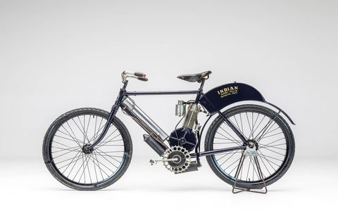 1920 Indian Camelback. The Harley vs. Indian exhibition will run from now through 2018 at the Petersen Automotive Museum in Los Angeles.