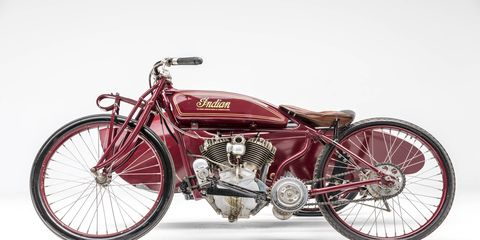 The rivalry continued into the Roaring '20s. This is a 1920 Indian Daytona Racer.