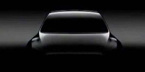 Tesla teased its Model Y crossover at its annual shareholder meeting.