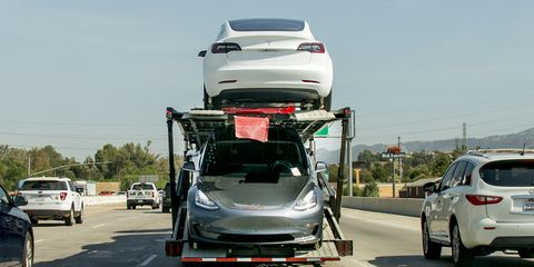 Tesla has faced delays as Model 3 production pace has picked up in recent months.