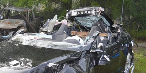 The NTSB released a preliminary report several days ago indicating the Model S in question was speeding at the time of the crash.