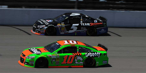 Kasey Kahne (5) and Danica Patrick (10) were part of a 10-team NASCAR Sprint Cup Series test at Michigan International Speedway on Monday.