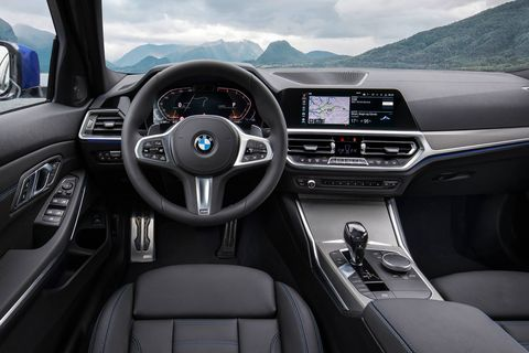 The 2019 BMW 3-Series five options for leather trim including colors and patterns.