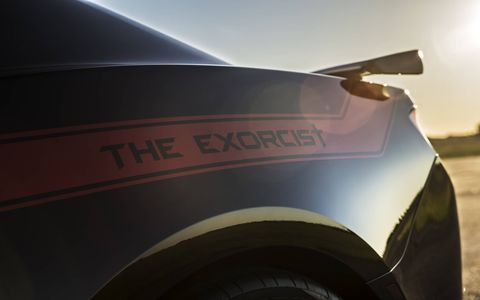 The Exorcist adds 350 hp over the stock ZL1, good for a sub-10-second quarter-mile time.
