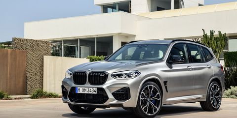 """The 2020 BMW X3 M comes with a twin-turbocharged I6 making 473 hp in """"base"""" models, 503 hp in Competition models."""