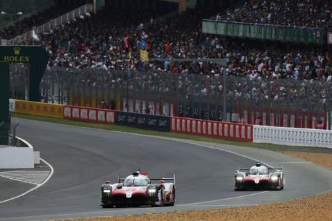 Toyotas winning prototypes at the 2018 24 Hours of Le Mans