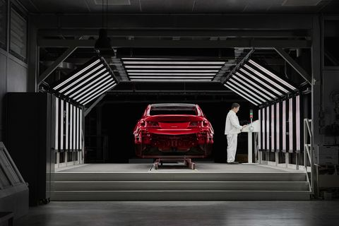 Much more than slapping on a coat of paint, the process takes five days for the 2020 Acura TLX PMC Edition. And then it's hand built from there.