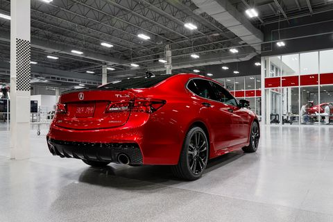 The 2020 Acura TLX PMC Edition. PMC stands for Performance Manufacturing Center
