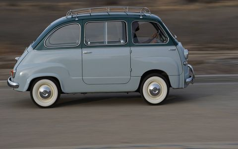 """1956 Fiat Multipla: """"VERY rare first car, totally unrestored, running, driving and very usable.  Only 7k original miles!"""""""