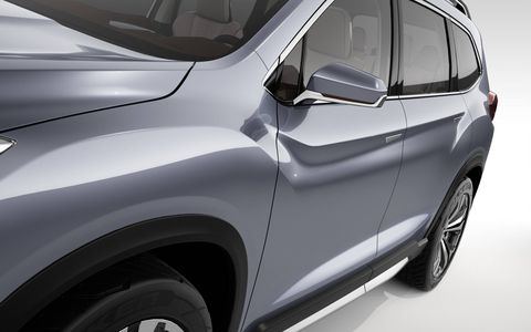 The Subaru Ascent SUV concept rides on a modified version of the Subaru Global Platform.