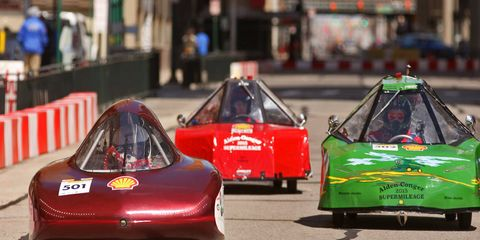 The 2015 Shell Eco-marathon Americas brought over 100 high school and college teams -- and over 1,000 students -- to Detroit to see who could squeeze the most miles out of a drop of gasoline, watt of electricity or...well, equivalent units of a variety other energy sources.