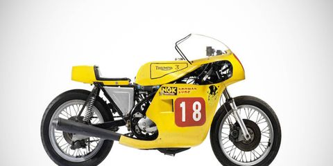 """Not every vintage motorcycle is as valuable, or spectacular, as this 1973/1977 Triumph 974cc Trident """"Rob North"""" Racing Motorcycle, but at least this one can still be used as intended."""