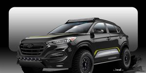 This lifted 2016 Hyundai Tucson is the opposite of what we've seen from Hyundai's 2015 SEMA show caravan.