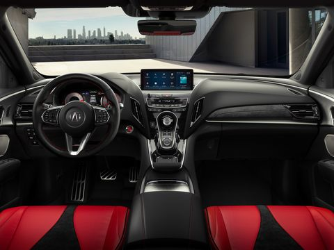 The Acura RDX uses a touchpad to control the media system.