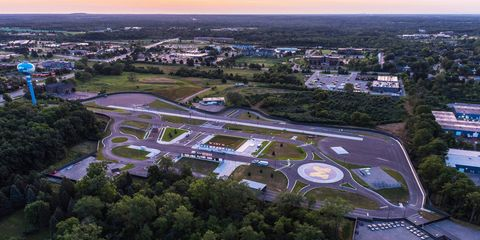 The 32-acre fake town being built at the University of Michigan to test self driving cars.