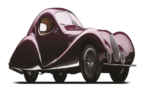1937 Talbot-Lago T150C SS 'Goutte d'Eau':  Goodwood Cartier Style et Luxe This masterful coachwork by Figoni et Falaschi has won prizes at every major concours in pre-war Europe and is famed for having both redefined automotive style and having won top-level races. The 'Teardrop' became trend setting and motivated many other French manufacturers to consider a similar streamlined design.